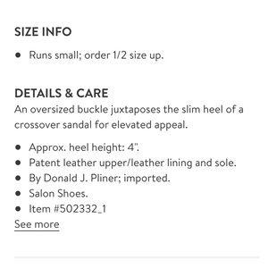 Donald J. Pliner Shoes - ❤️ Donald J Pliner Buckle Heel Sandal Size 8
